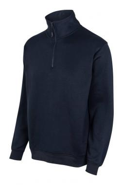 Felpa mezza zip azul navy (xl)